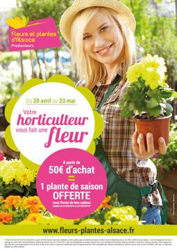 Affiche horticulteur vous fait une fleur